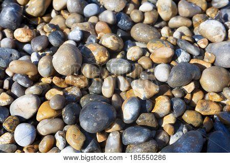 Stones in the beach Cap Gris Nez Cote d'opale Pas-de-Calais France