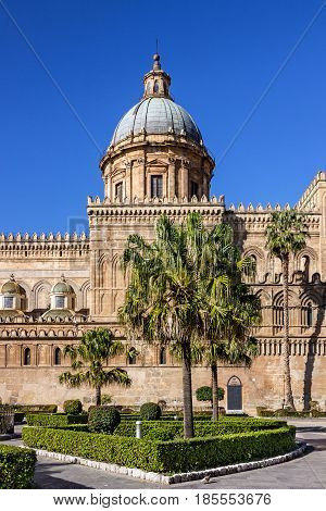 Palermo Cathedral Sicily Italy. Church of the Roman Catholic Archdiocese of Palermo