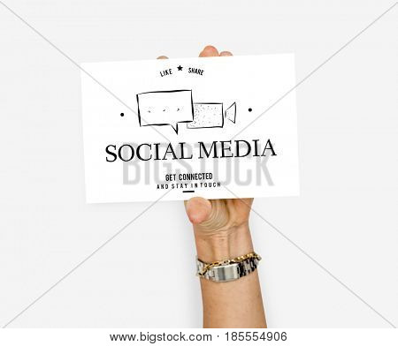 Social Media Conversation Message Talk Speech Bubble Graphic