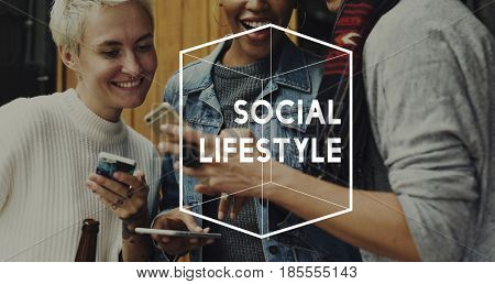 Social Network Lifestyle Connection Communication Society