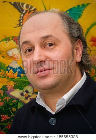 Ivan Malkovich. The publisher. He publishes books for children. Photographed in the city of Kiev. Ukraine 2006-03-10.