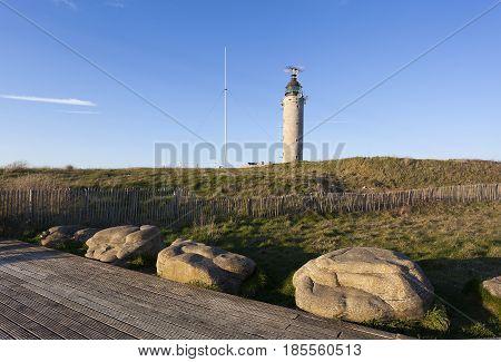 Lighthouse of the Cap Gris Nez Cote d'opale Pas-de-Calais France