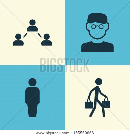 Person Icons Set. Collection Of Network, Member, Delivery Person And Other Elements. Also Includes Symbols Such As Person, Social, Smart.