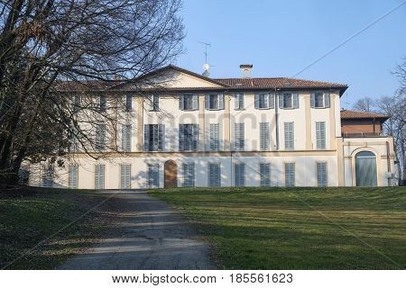 Park of the historic Villa Scaccabarozzi in Usmate (Monza Brianza Lombardy Italy)
