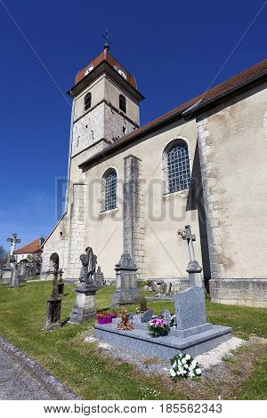 Church of Evillers Jura Franche Comte France
