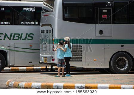Passenger Of Bus At Chiangmai Bus Station
