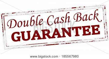 Stamp with text double cash back guarantee inside vector illustration