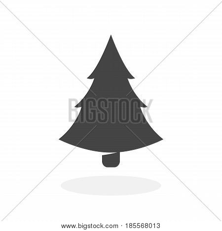 Fir-tree icon isolated on white background. Fir-tree vector logo. Flat design style. Modern vector pictogram for web graphics - stock vector