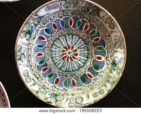Turkish Iznik Ceramic In Ecouen Castle, France