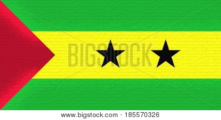 Flag Of Sao Tome And Principe Wall.