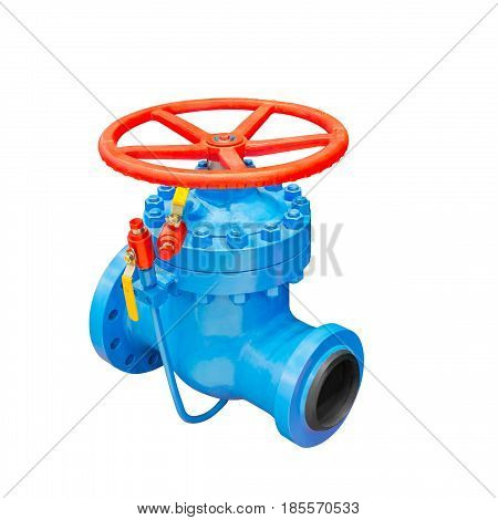Wedge gate valve on a white background