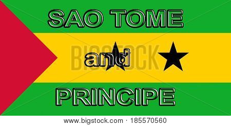 Flag Of Sao Tome And Principe Word.