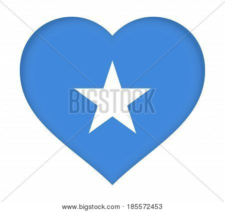 Flag Of  Somalia Heart