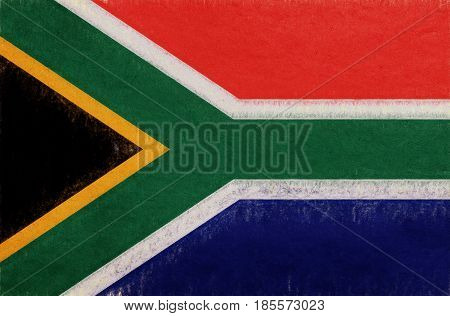 Flag Of South Africa Grunge.