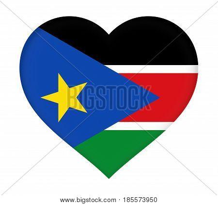 Flag Of  South Sudan Heart