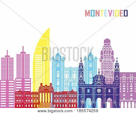 Montevideo Skyline Pop