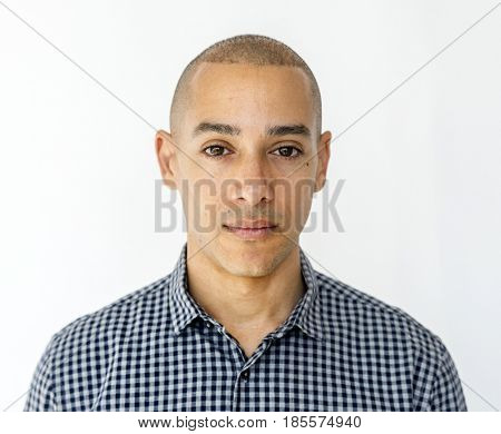 Adult Man Face Expression Studio Portrait