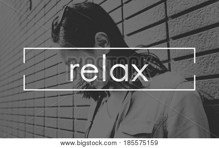 Relaxation Peace Clam Chill out Word