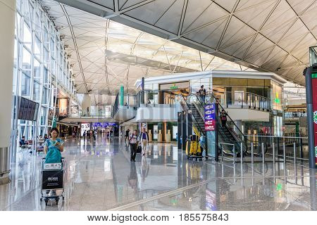 Hong Kong international airport, Hong Kong, September 2016 -: Chek Lap Kok Airport