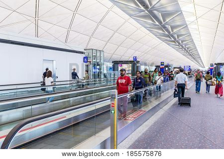 Hong Kong international airport, Hong Kong, September 2016 -: Passenger in Hong Kong international airport