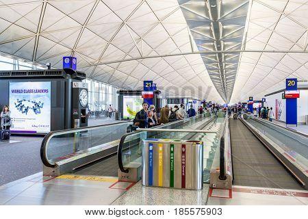 Hong Kong international airport, Hong Kong, September 2016 -: Chek Lap Kok Hong Kong International Airport