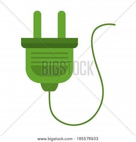 energy plug connection icon vector illustration design