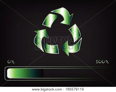 Recycling Symbol With Progress Bar Loading