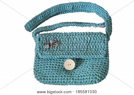 Women fashion accessories Various items of crocheted bucket-style handbags Way up handcrafted woolen bags Fashion - Crochet handbags