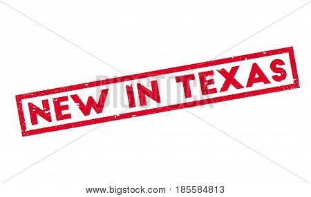 New In Texas rubber stamp. Grunge design with dust scratches. Effects can be easily removed for a clean, crisp look. Color is easily changed.