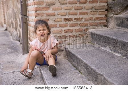 Portrait Of Offended Little Girl