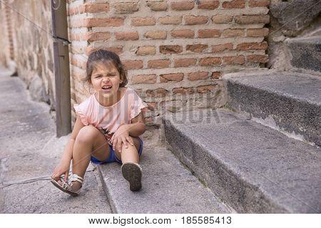Portrait Of Offended Little Girl