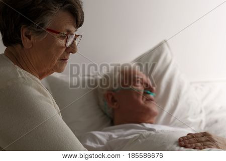 Wife Supporting Husband Before Death