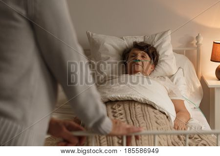 Dying Woman With Loving Husband
