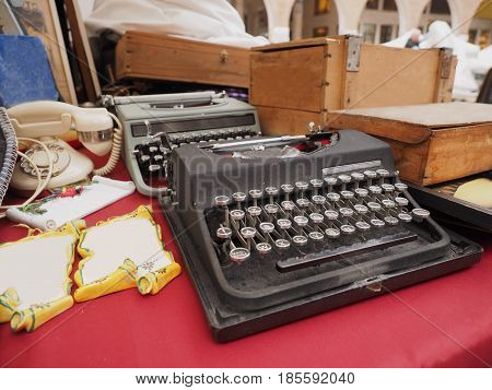Two old typewriters for sale at the flea market