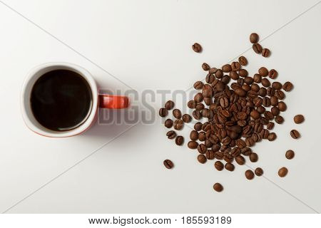 Fragrant Coffee And Beans Coffee.