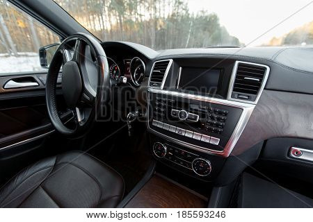 Simple Yet Stylish And Balanced Interior Of A Modern Car