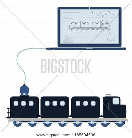 Train Automation Using Laptop