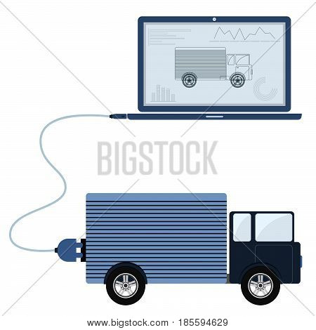 Truck Automation Using Laptop