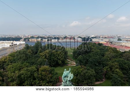 View From The Colonnade Of St. Isaac's Cathedral. St.petersburg, Russia.