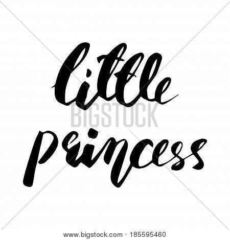 Little Princess lettering design. Modern brush style. Vector illustration