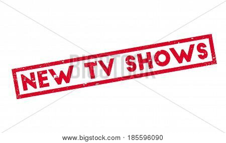 New Tv Shows rubber stamp. Grunge design with dust scratches. Effects can be easily removed for a clean, crisp look. Color is easily changed.
