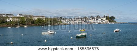 Harbor of Douarnenez, French countryside, Finistere, Brittany, France, Europe