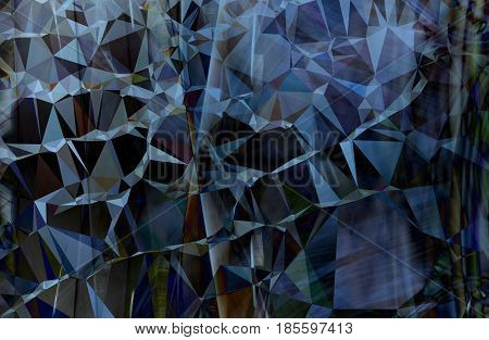 Colorful blue abstract geometric background with triangular