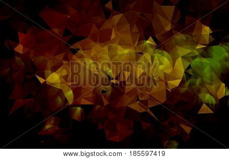 Colorful abstract geometric background with triangular and bokeh
