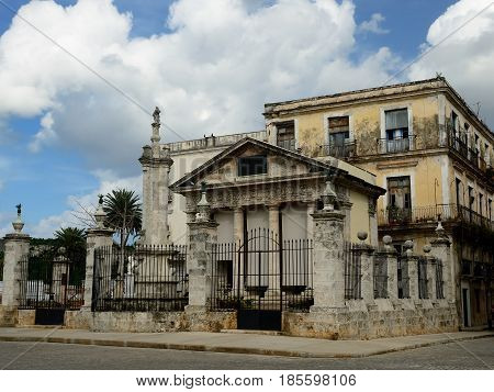 Neoclassic building El Templete is a and the place where the foundation of the town of San Crist