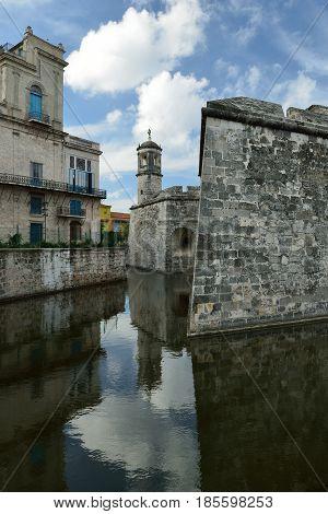 Castillo de la Real Fuerza built at the Plaza de Armas square in Havana on Cuba