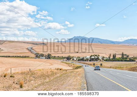 CALEDON SOUTH AFRICA - MARCH 27 2017: A view of the N2-Road between Caledon and Botrivier in the Western Cape Province