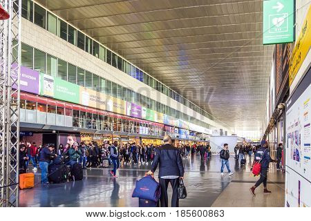 Rome Italy march 18th 2017: Concourse area of the Termini Station in Rome Italy