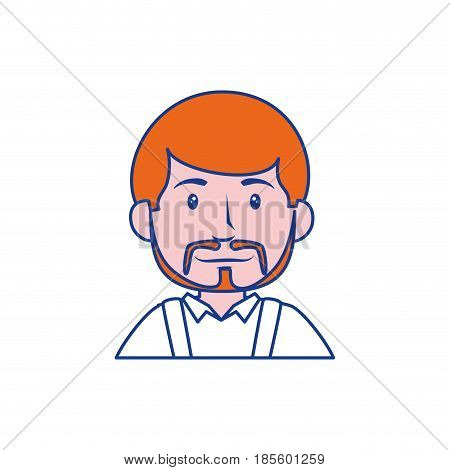happy man cartoon icon over white background. colorful design. vector illustraiton