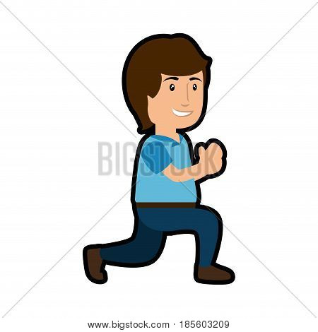 man cartoon icon over white background. colorful design. vector illustraiton